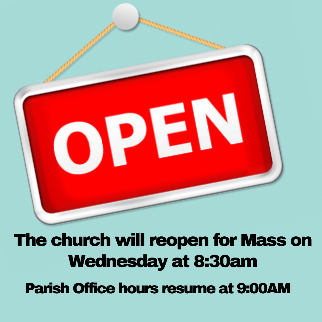 Church and Parish Office open!